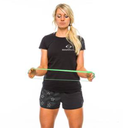 Girl with exercise band