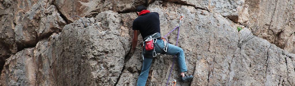 Beginner Climber Outdoor